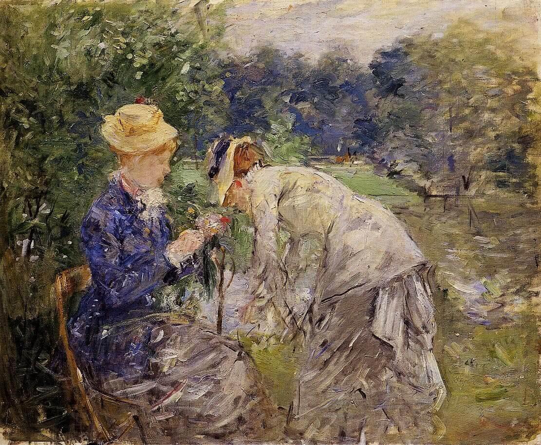 """""""I Boulogne.skoven"""" af Berthe Morisot"""